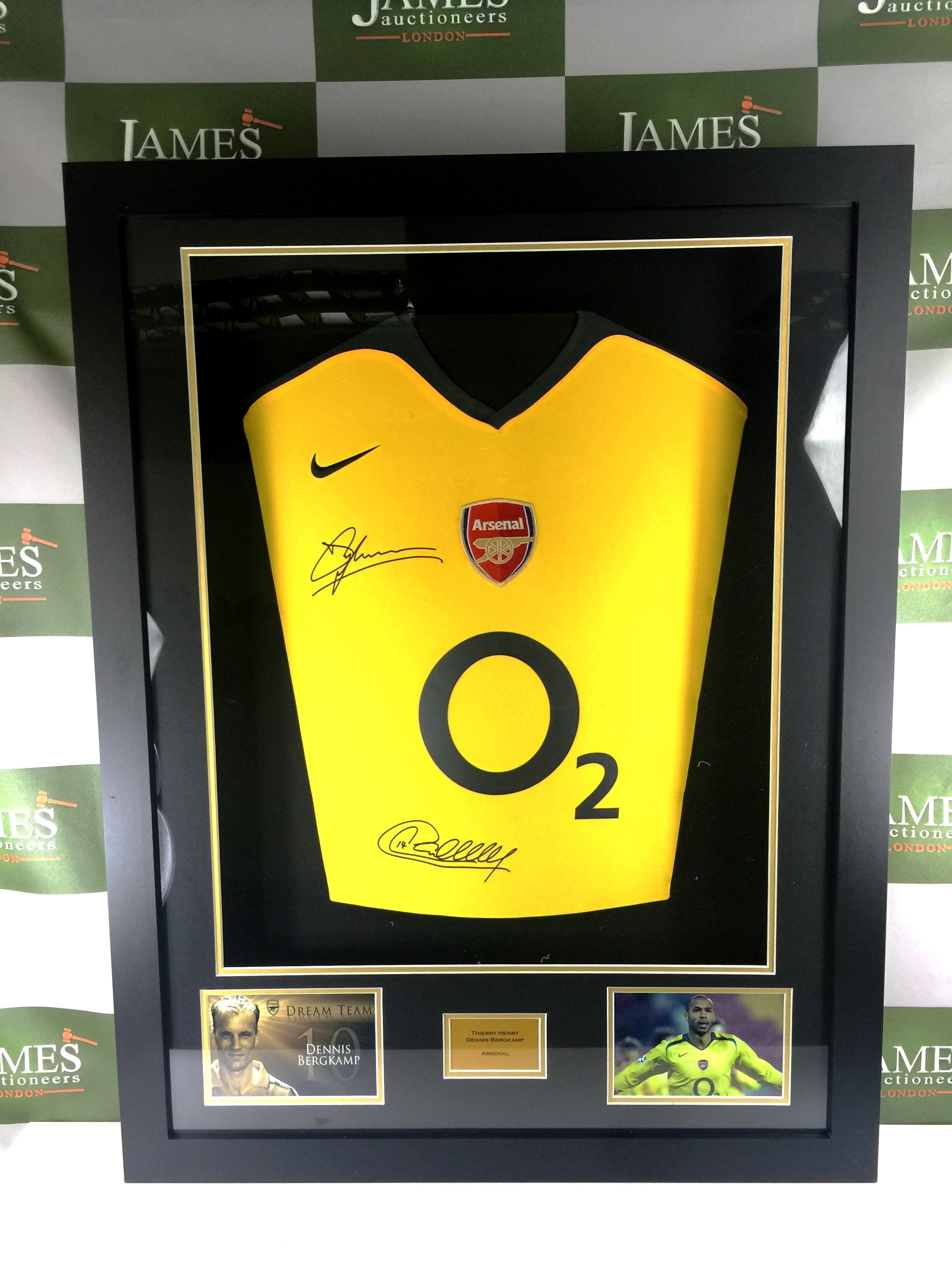 b27f4a188 Lot 217 - Arsenal Legends Thierry Henry   Dennis Bergkamp signed Arsenal  shirt ...