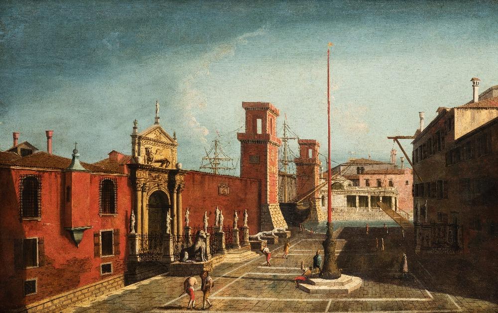 Lot 3 - ‡‡FOLLOWER OF MICHELE MARIESCHI (1710-1743) CAMPO DELL'ARSENALE, VENICE oil on canvas 79 x 112cm /