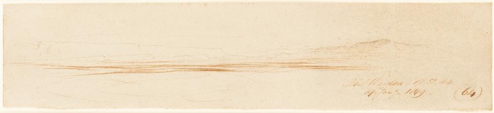 EDWARD LEAR (1812-1888) GEBEL WARDAN, SINAI inscribed and dated l.r.: Gebel Wardan 10.50.AM. / 19.