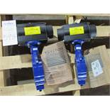 """Keystone Model 221 Unused 4"""" Pneumatic Actuated Butterfly Valves"""