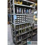 (LOT) MISCELLANEOUS NO-GO THREAD GAGE WITH SHELVING