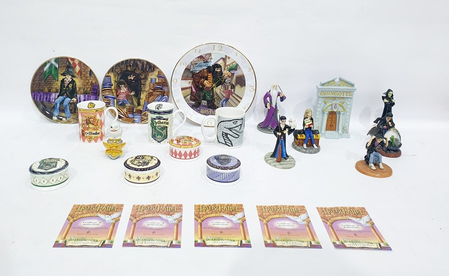 Lot 35 - Collection of Harry Potter related ceramicsincluding seven Royal Doulton 'Harry Potter' models of
