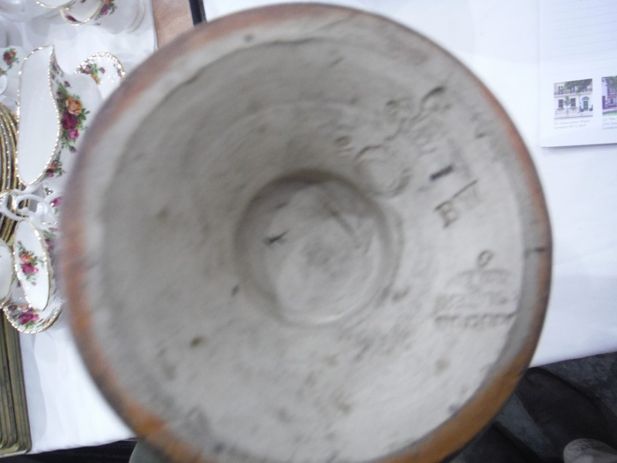 Lot 2 - Doulton stoneware vasewith bulbous neck, shoulder