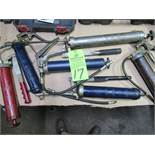 Lot Comprising (6) Grease Guns