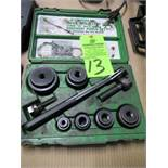 GreenLee Slug Buster Knockout Punch Set 1/2 - 2""