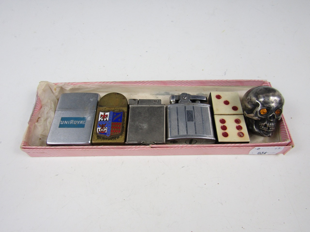 Lot 23 - A collection of vintage novelty and other lighters, including one modelled in the form of a domino