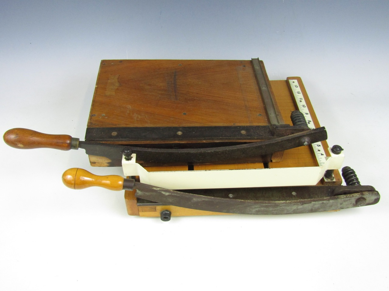Lot 33 - Two vintage guillotines