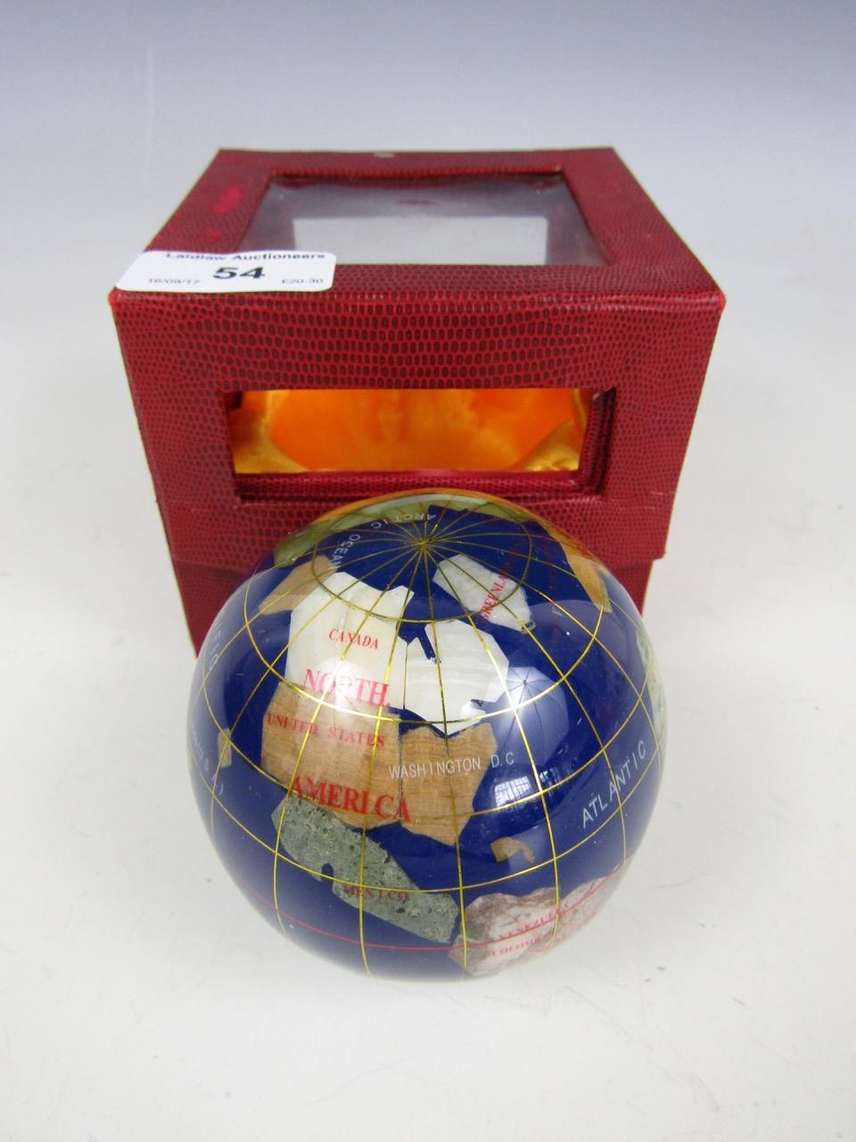 Lot 54 - A specimen rock globe