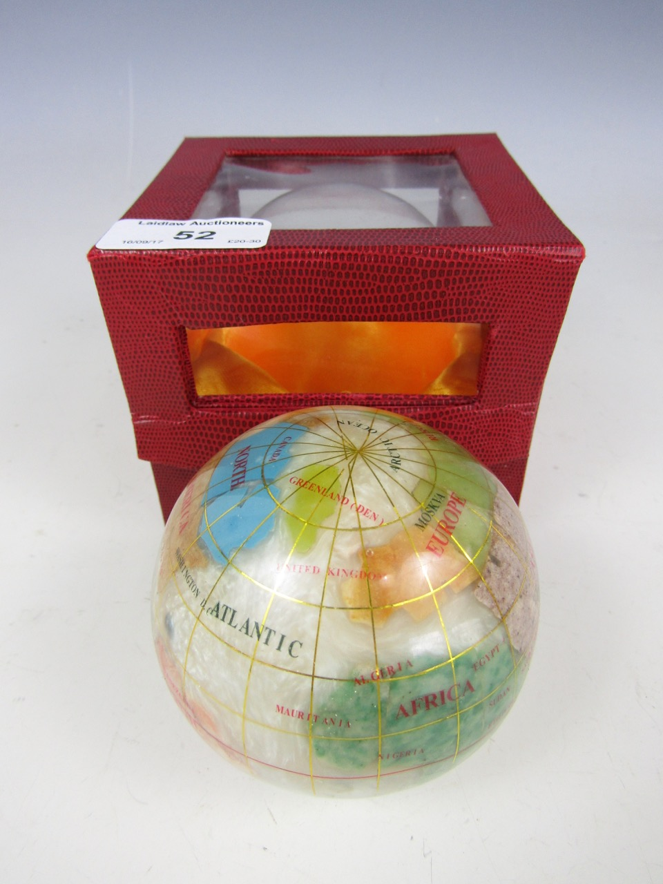 Lot 52 - A specimen rock globe
