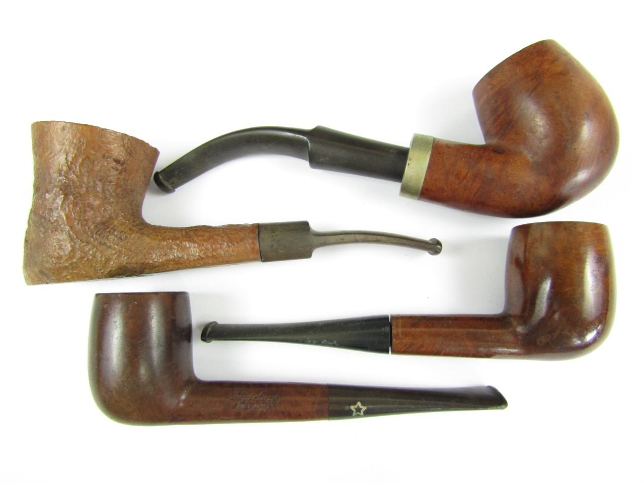 Lot 59 - Four briar pipes