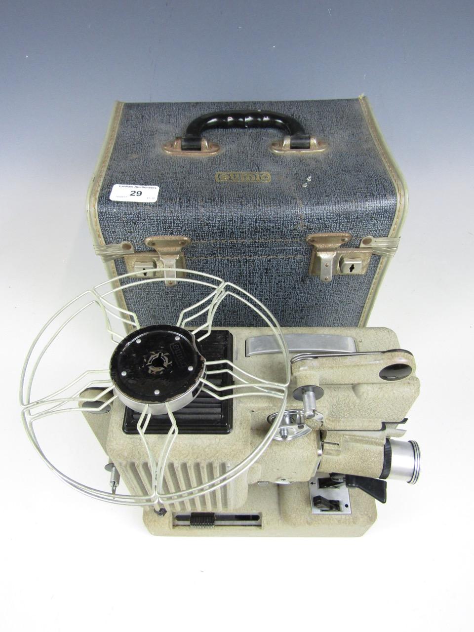 Lot 29 - A vintage cased Austrian Eumig projector