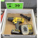 LOT/ DEWALT 12V CORDLESS DRILL WITH CHARGER