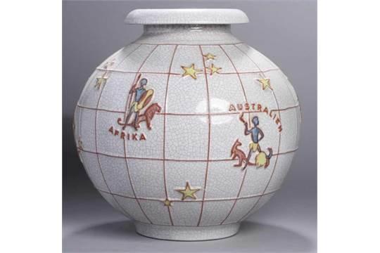 Keramik-Ziervase,