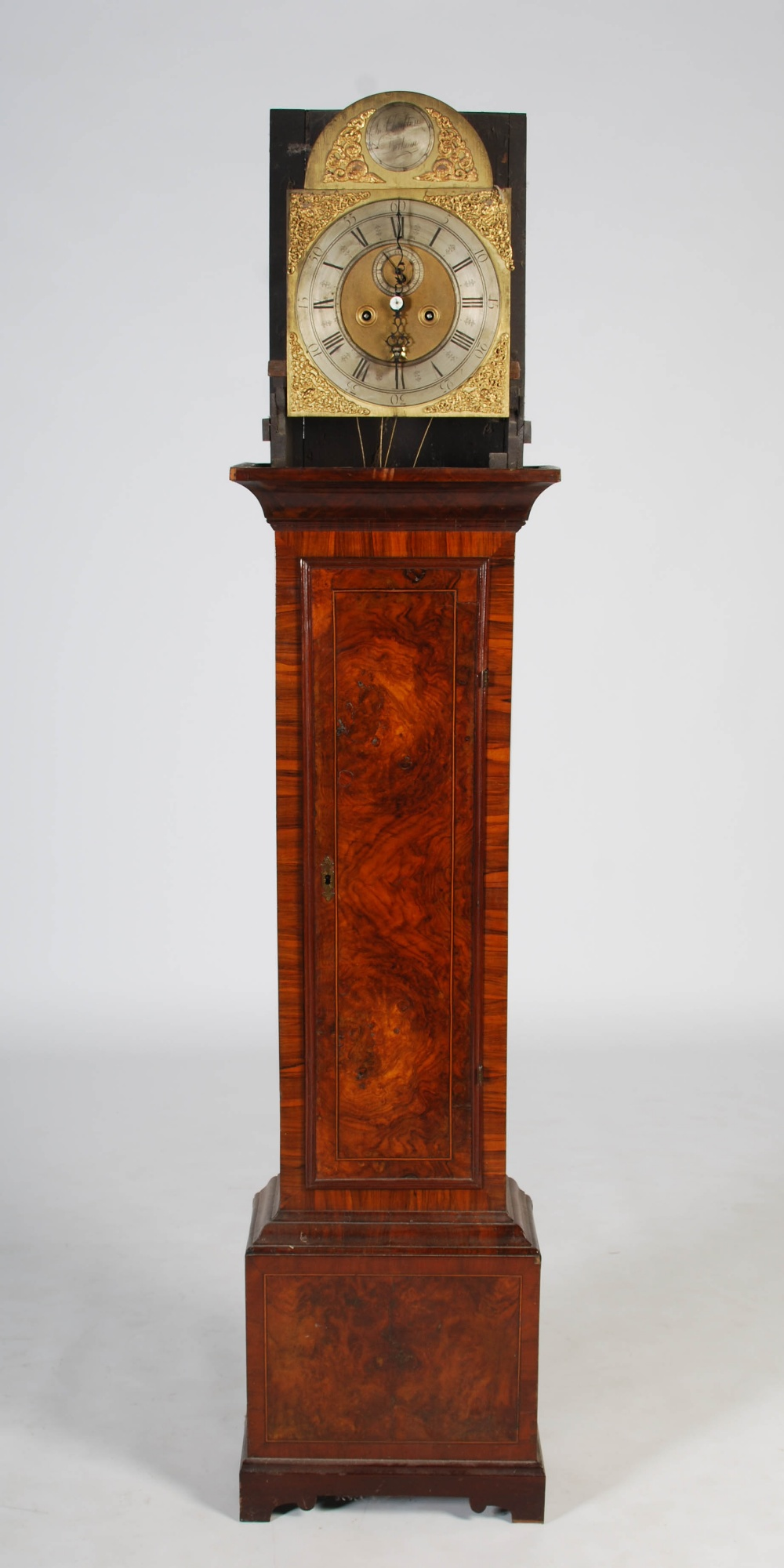Lot 2 - A George III walnut longcase clock, Jn. Charlton, Durham, the brass dial with silvered chapter