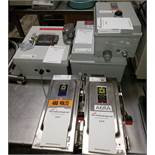 Lot of electrical equipment, consisting of control box, reset button and switches