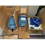 Lot of (2) ABB DC motors, with (1) gearbox, un in boxes, 0.37 and 0.45 kW motors.