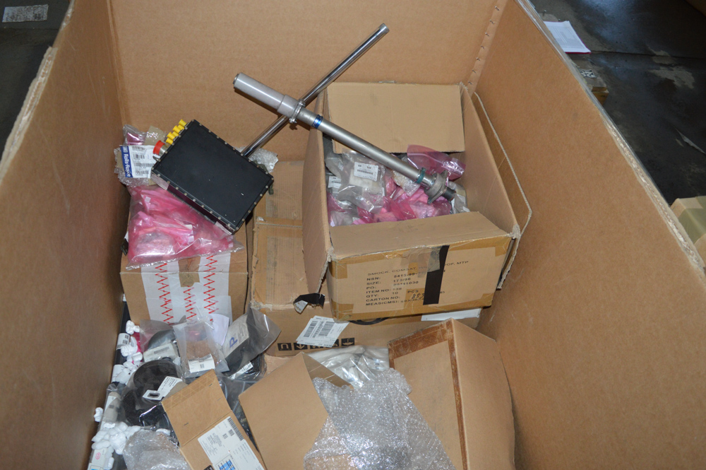 Box of miscellaneous air craft spares as lotted