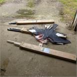 4 Scarem bird kites and poles