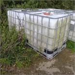 2 x 1000L ex manganese containers