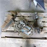 Portable compressor and bench grinder and vice