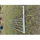 12' Galvanised gate and 1 post