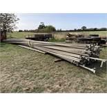 "Qty 2"" AL irrigation pipes,"