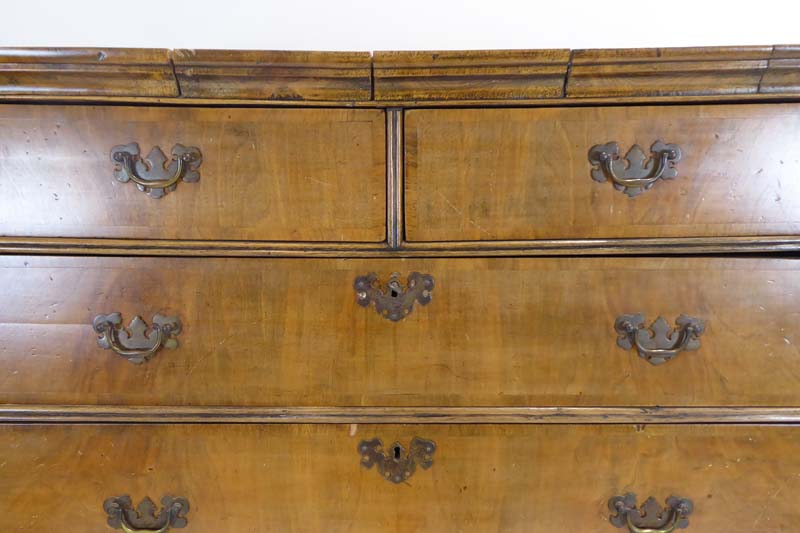 Lot 1 - A 17th century and later walnut chest-on-stand,