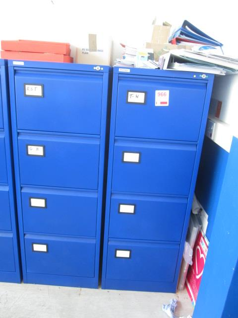 Two metal 4 drawer filing cabinets