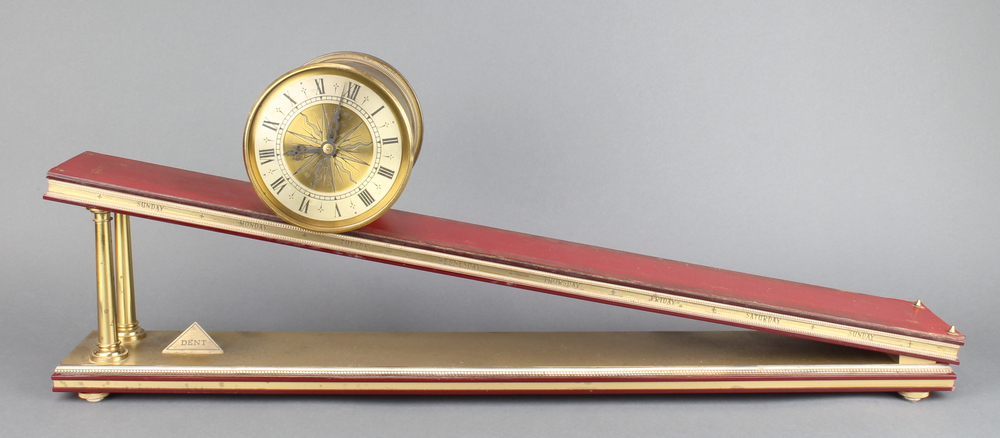 Lot 915 - Dent of London, a limited edition incline plane gravity clock, the gilt metal barrel case with