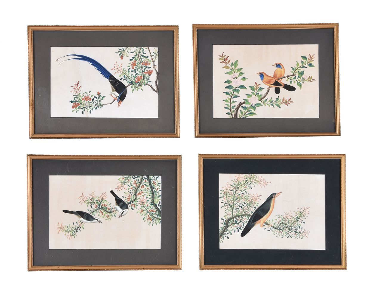 Lot 242 - A set of eight Chinese watercolours on pith paper