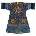 BLUE DRAGON ROBE FOR MIDSUMMER. Origin: China. Dynasty: Qing dynasty. Date: 19th-early 20th c.