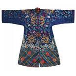 BLUE-GROUND DRAGON ROBE FOR THE CHINESE OPERA. Origin: China. Dynasty: Qing dynasty. Date: Ca. 1900.