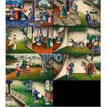 SEVEN SCENES FROM THE 24 PARAGONS OF FILIAL PIETY. Origin: China. Dynasty: Late Qing dynasty.