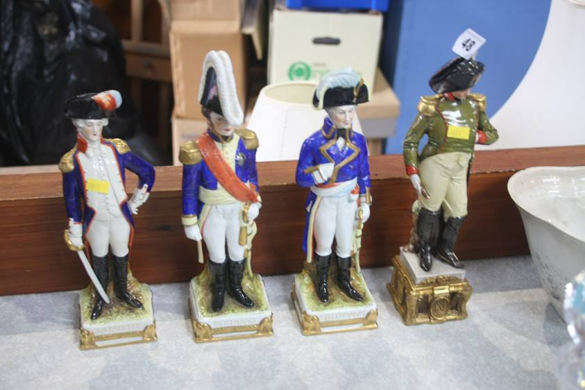 Lot 48 - Four Continental military figures