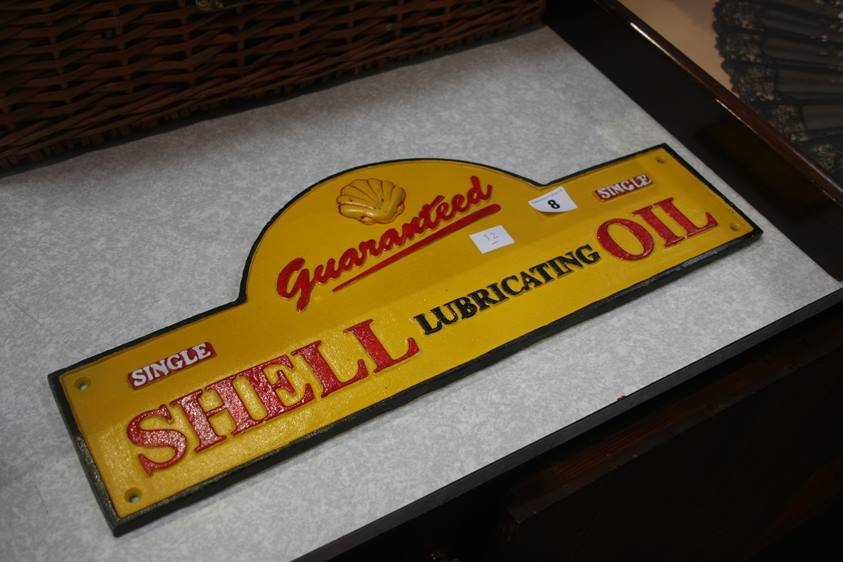 Lot 8 - A Shell Oil sign