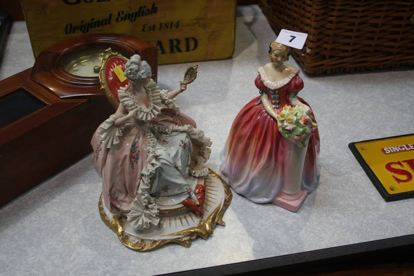Lot 7 - A Royal Doulton figure 'Roseanna' and one other