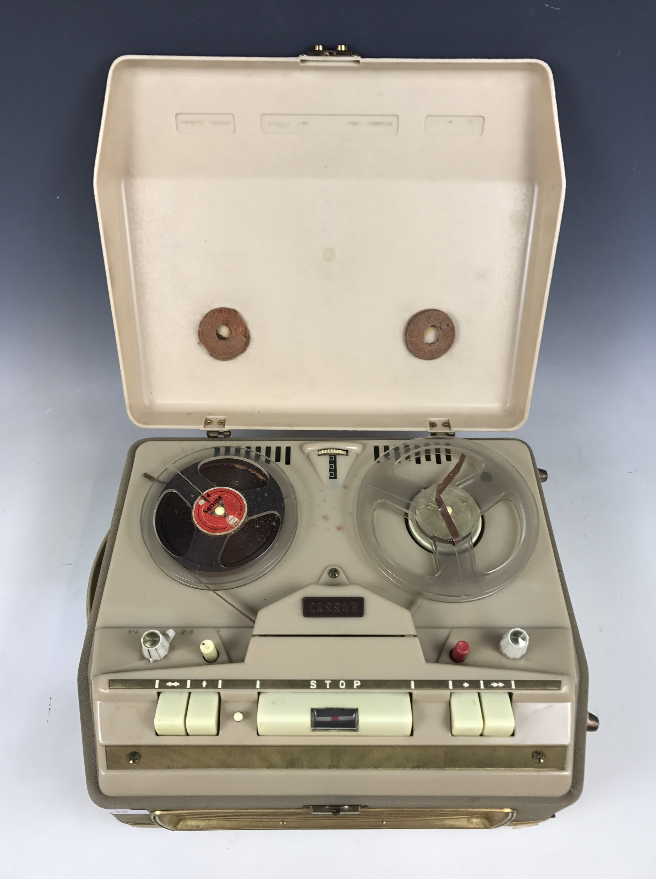 Lot 49 - A vintage Cossor reel-to-reel tape recorder