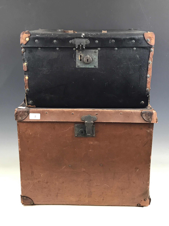 Lot 2 - Two vintage travel trunks