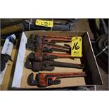 (5) ASSORTED PIPE WRENCHES