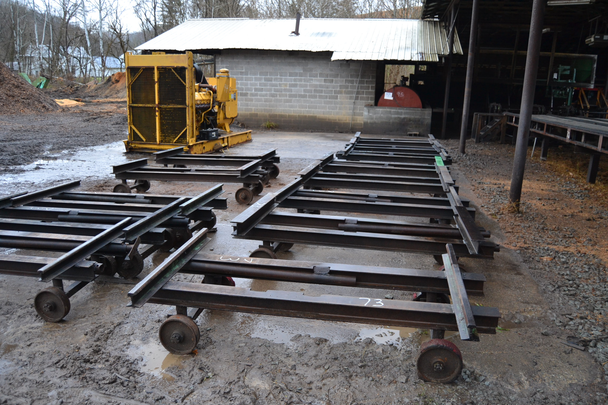 Lot 73 - 13 ALL STEEL LUMBER ROLL OUTS
