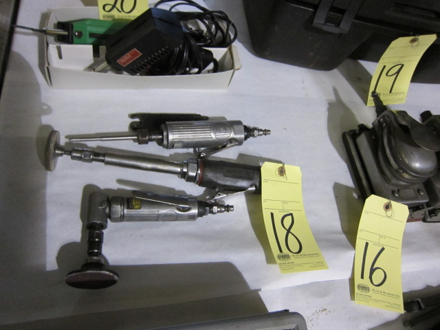 Lot 18 - LOT OF PNEUMATIC DIE GRINDERS (3), assorted