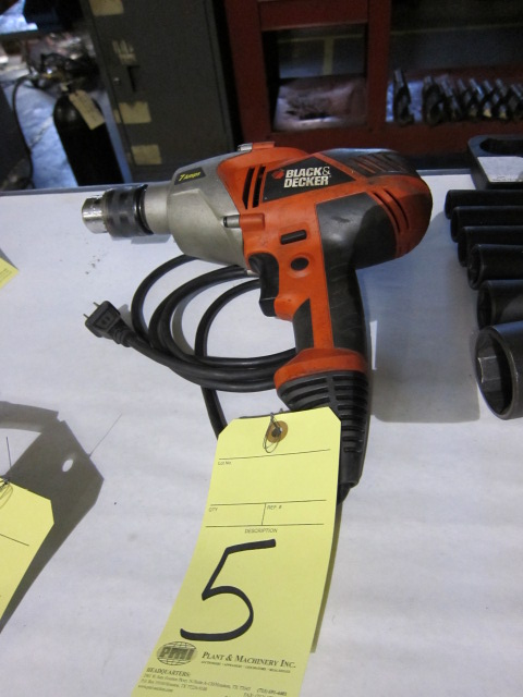 Lot 5 - ELECTRIC DRILL MOTOR, BLACK & DECKER 1/2""
