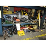 Lot 26 - LOT OF HAND TOOLS, assorted (Located under bench)