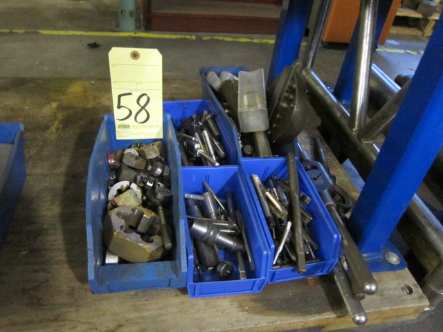 Lot 58 - LOT OF TAPS & DIES, assorted (in five boxes)