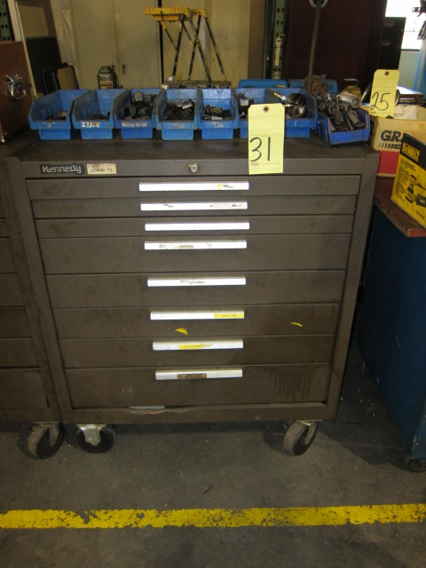 Lot 31 - LOT CONSISTING OF: stud sets & Kennedy toolbox
