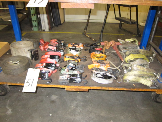 Lot 51 - LOT OF RATCHET STRAPS, assorted (located under bench)