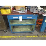 "Lot 29 - PORTABLE WORKBENCH, 49"" x 27"", 2-drawer"