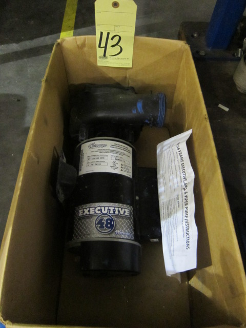 Lot 43 - ELECTRIC PUMP, EXECUTIVE MDL. PF-15-2N11C4