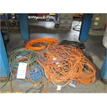 Lot 27 - LOT OF EXTENSION CORDS, assorted (Located under bench)