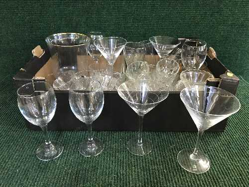 Lot 20 - Two boxes of glassware,